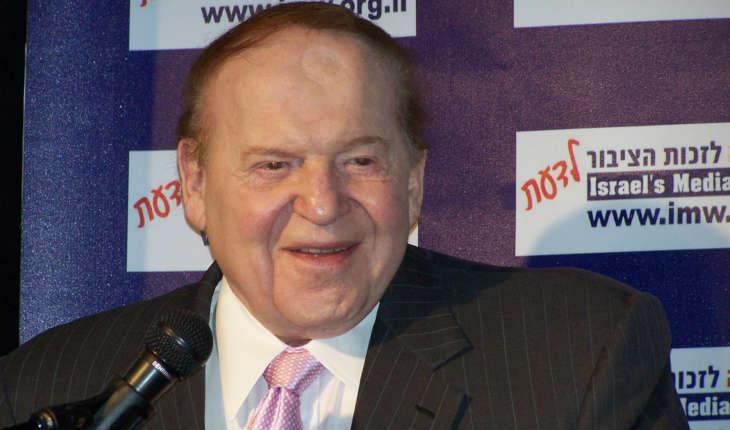 Sheldon Adelson talking to Israeli media.