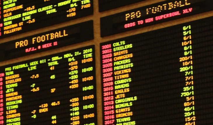 A sports betting board.