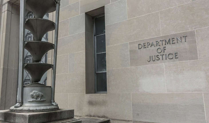 The building of the Department of Justice.