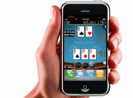 Many casino apps have poker games in their offer.