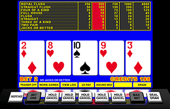 Video Poker Game Example