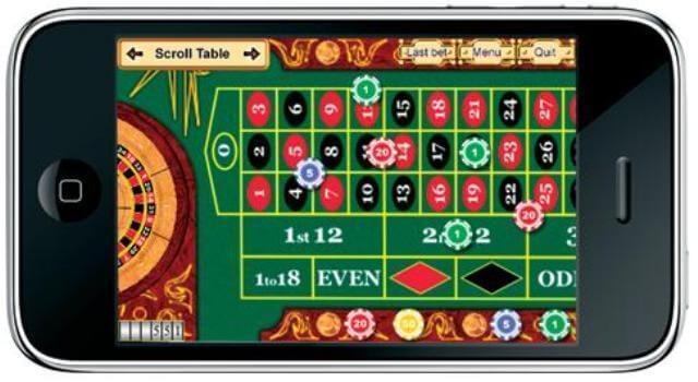 Casino games for iPhones.